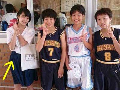 平手友梨奈 中学 バスケ部