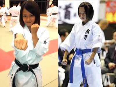山本舞香 小学生時代 空手1